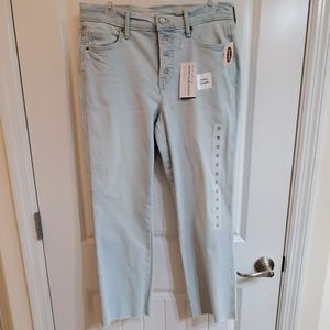 Old Navy raw edge high rise flares 10